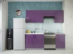 """Кухня """"София"""" 2,1м. Фиолетовый глянец - фото 11857"""