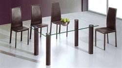 Обеденный стол со стеклом «А051А» - фото 6793