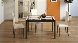 Стол кухонный раскладной со стеклом «Диез Т4» С-345  с рисунком - фото 6801