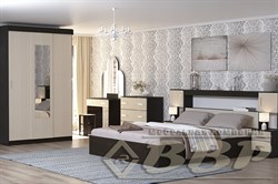 Кровать 2х спальная с прикроватным блоком и тумбами - фото 11616