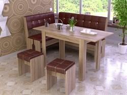 """Кухонный уголок """"Мадрид"""" с раскладным столом - фото 13142"""