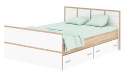 """Кровать""""Сакура 1400"""" сонома/белый глянец - фото 14011"""