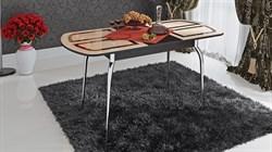 Стол обеденный раздвижной со стеклом с рисунком «Милан» СМ-203.01.13Венге Цаво - фото 6780