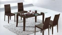 Обеденный стол со стеклом «А074» - фото 6794