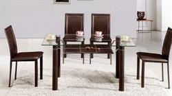 Обеденный стол со стеклом «А046В» - фото 6795