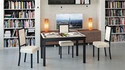 Обеденный раздвижной стол со стеклом «Диез Т11» С-343 с рисунком - фото 6806