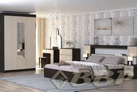 Кровать 2х спальная с прикроватным блоком и тумбами