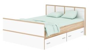 """Кровать""""Сакура 1600"""" сонома/белый глянец"""