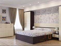 Кровать МС-1 Белый Перламутр с тумбами