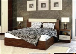 Кровать 2х спальная Венге/Лоредо