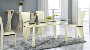 Обеденный стол со стеклом «А093А» A093A