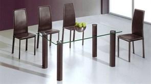 Обеденный стол со стеклом «А051А»