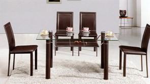 Обеденный стол со стеклом «А046В»