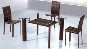 Обеденный стол со стеклом «А049-1»